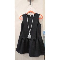 Vestido negro detalles lurex