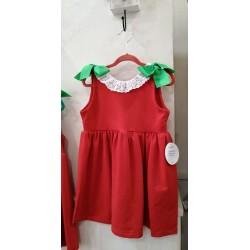 Vestido rojo algodón Mon Petit