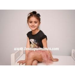 Camiseta algodón negra lavada Only Kids